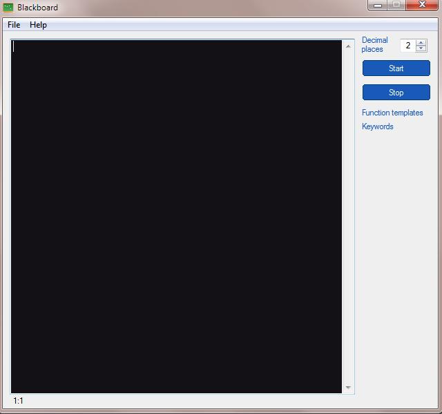 Blackboard calculator full screenshot